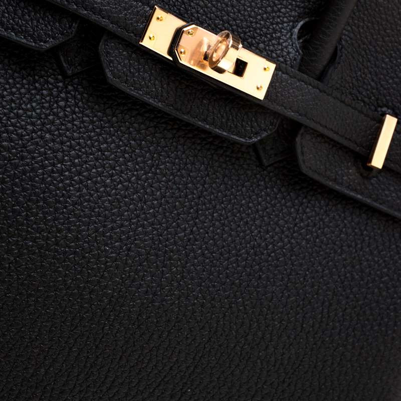 Birkin 25 black togo RGHW 2019 close up