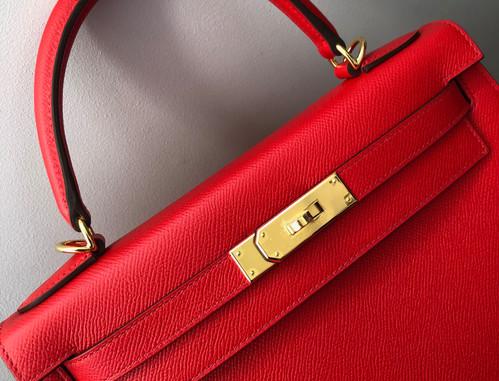 Hermes Kelly 28 Rouge de Coeur Duke of Luxury