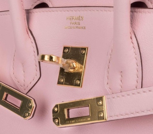 hermes Birkin 25 Rose Sakura Swift leather GHW Duke of Luxury