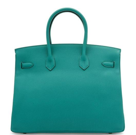 Birkin 35 Vert verone togo leather gold