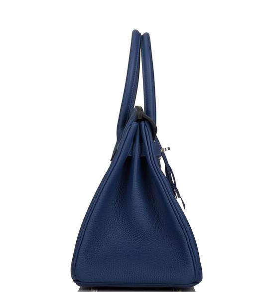 Birkin 30 deep blue clemence phw side.jp