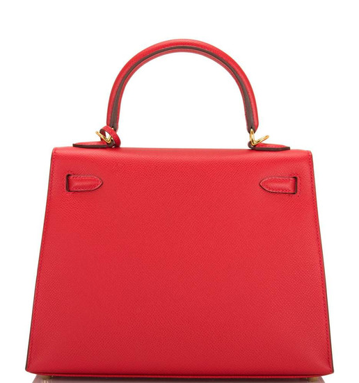 Kelly 25 Rouge Casaque Epsom Sellier GHW