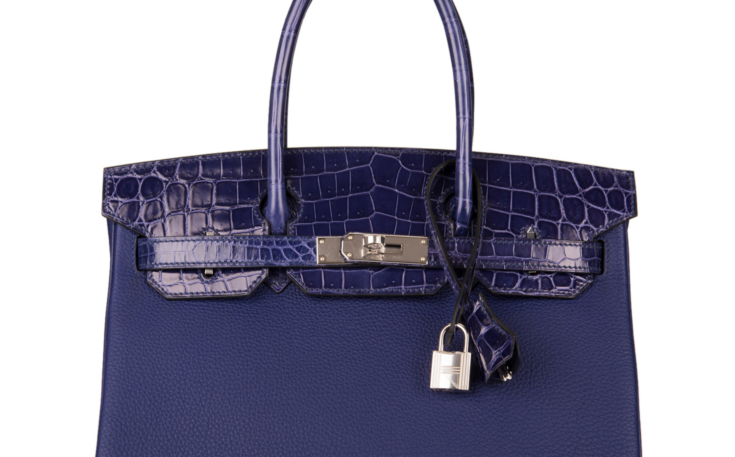 Birkin 30 touch alligator shiny bleu enc