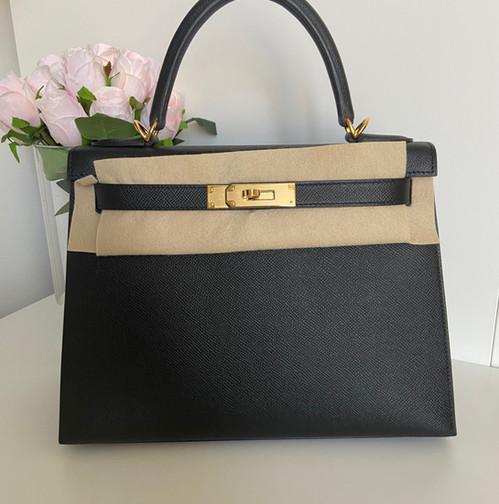 Hermès kelly 28 Black epsom ghw Y
