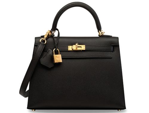 Kelly 28 Sellier Black Epsom leather Ghw