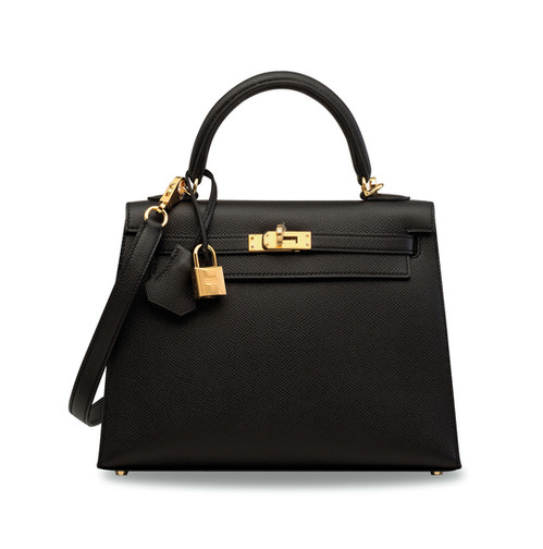 Hermès Kelly 28 Sellier Noir Black Epsom leather Ghw