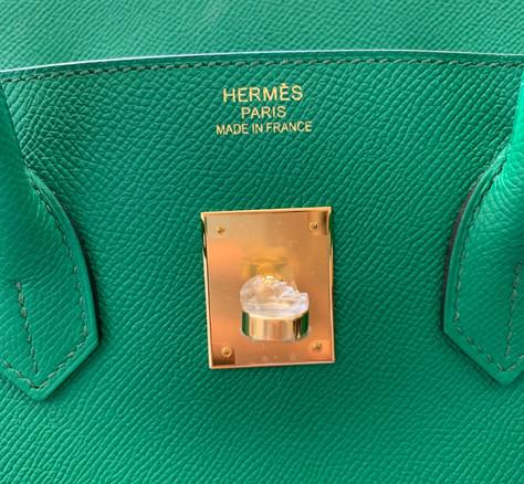 Hermes Birkin 35 cactus Epsom leather GHW Duke of Luxury