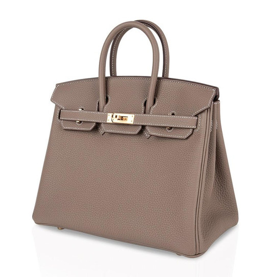 Birkin 25 Etoupe Togo Gold Hardware side