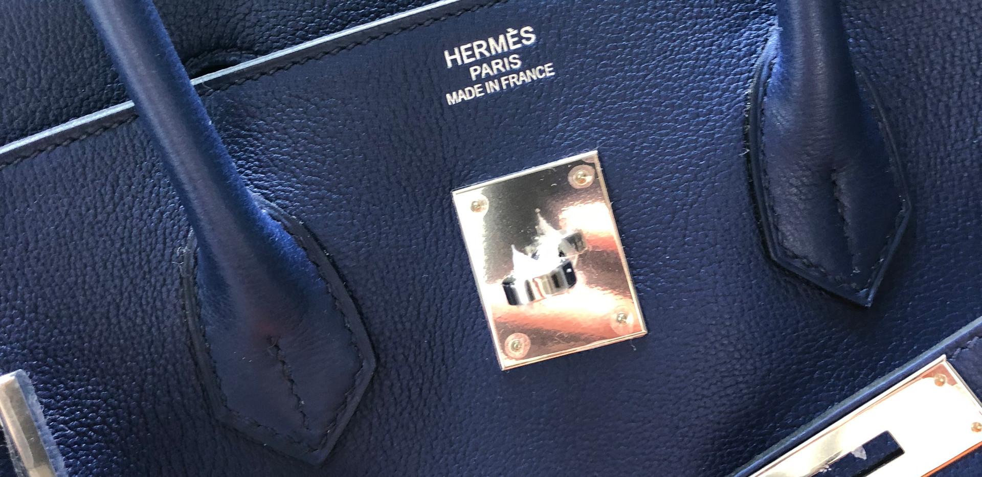 Hermes Birkin Blue Sapphire Duke of Luxu