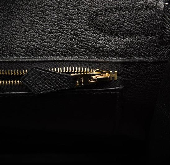 Birkin 30 Black Espom Gold Hardware insi