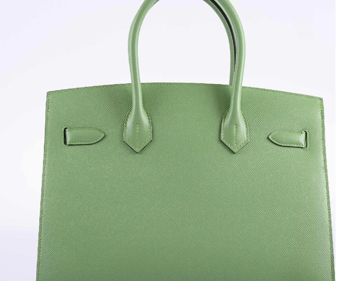 Birkin 30 Vert criquet epsom ghw back.jp