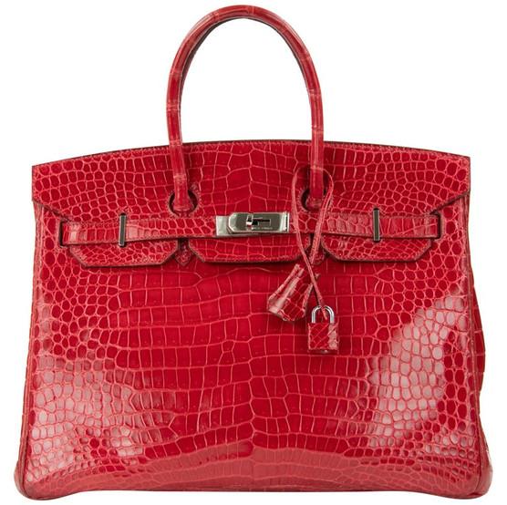 Hermes Birkin Bag 35cm Braise Porosus Crocodile Duke of Luxury