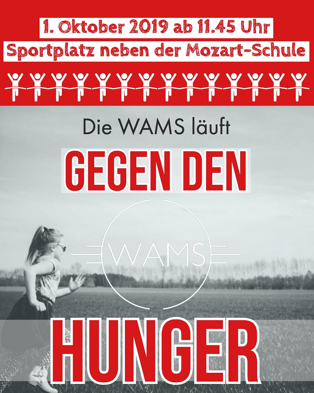 Am 1. Oktober 2019 findet an der Mozart-Schule der Lauf gegen den Hunger mit über 100 Teilnehmern statt.
