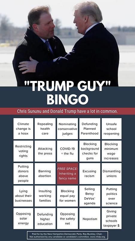 Sununu Trump Bingo.png