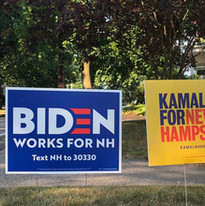Biden For NH & Kamala For NH Lawn Signs