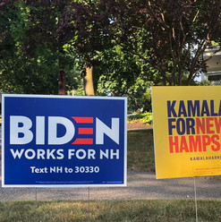 Biden For NH & Kamala For NH Lawn Signs
