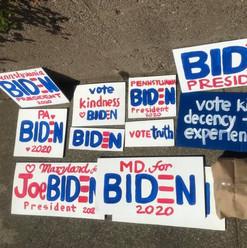 Homemade Joe Biden Signs