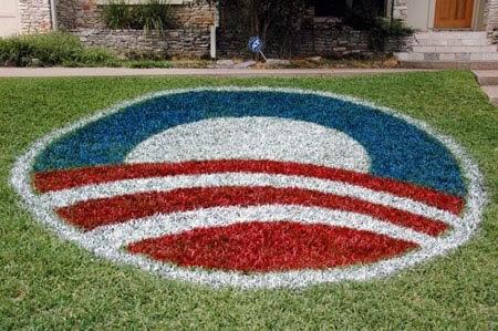 Obama Lawn Paint