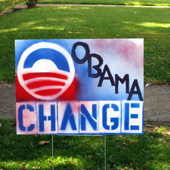 Homemade Obama Lawn Sign