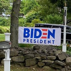 Big Biden For President Sign In Yard