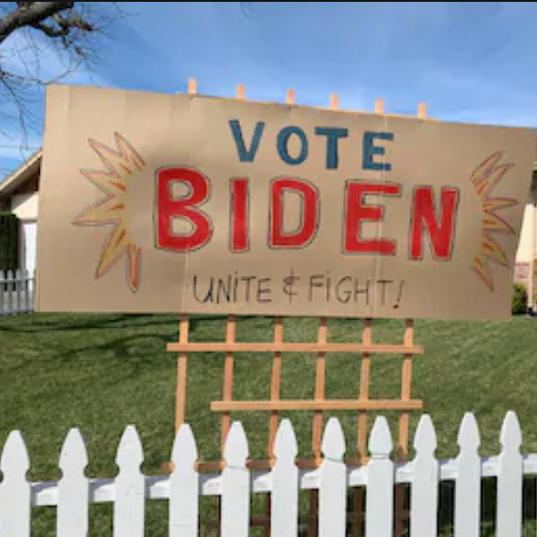Big Homemade Biden Sign