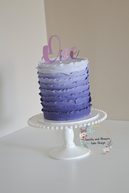 Cardstock Cake Toppers