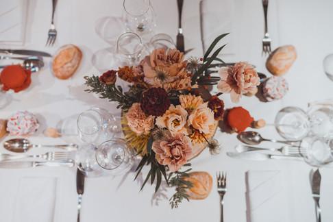 photos de décoration de table de mariage automnale