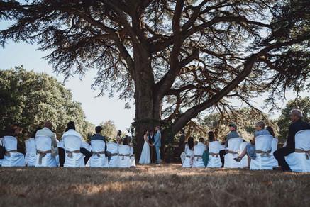photos mariage d'une cérémonie laïque en extérieur