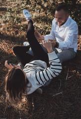 An engagement photo shoot in France, Loire-Atlantique