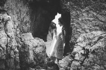 Jolie séance photo de couple fun et original à Vannes