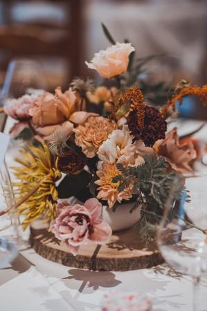 bouquet de fleurs de mariés couleurs automne