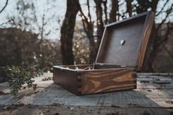 Boîte en bois pour packaging de tirage photo mariage à Nantes