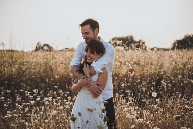 Jolie séance photo couple et engagement à la Bernerie en Retz