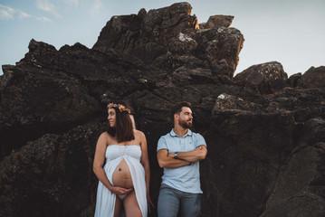 Jolie séance photo grossesse à la plage de Pornic