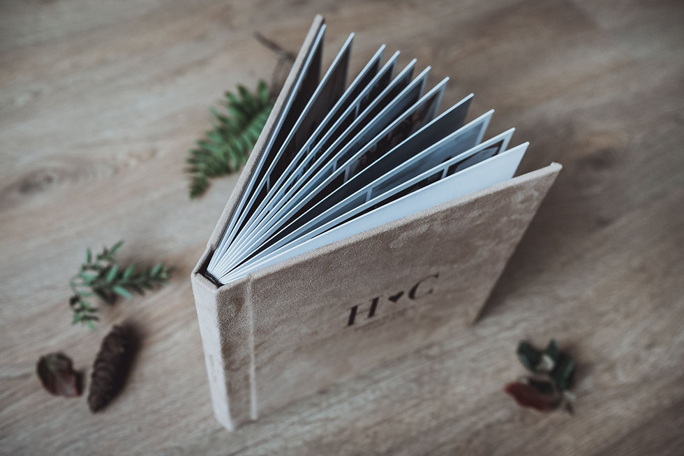 Beautiful packaging and photo book for wedding and elopement