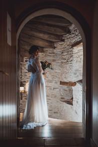 Jolie photos de mariée avec son bouquet