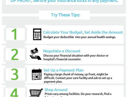 What To Do When You Have to Pay a Large Deductible Up Front