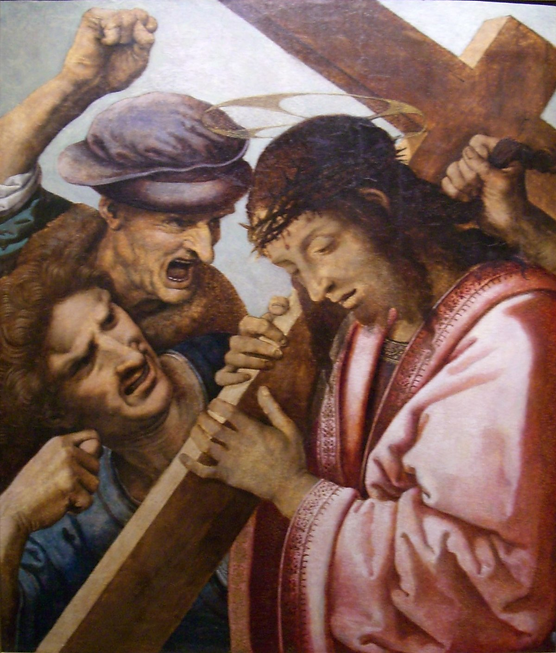 6th Station - Jesus carrying the cross.p