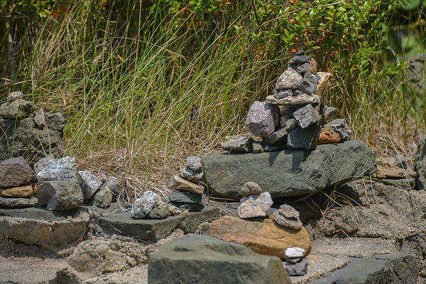 stone stacking Doraeji Temple Supjaegi park
