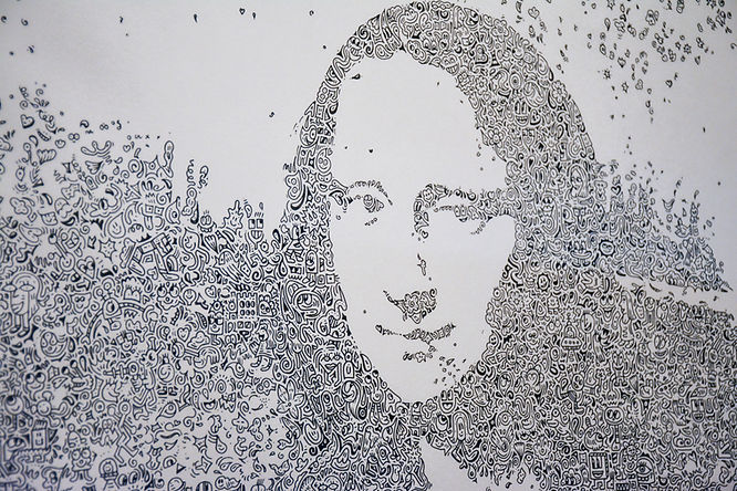 Mona Lisa Mr Doodle