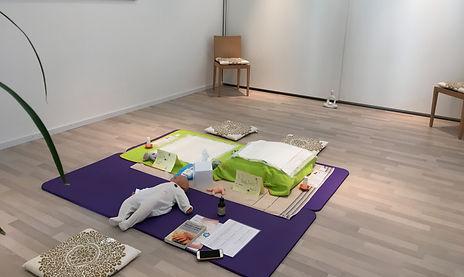 Sala per corso di massaggio infantile