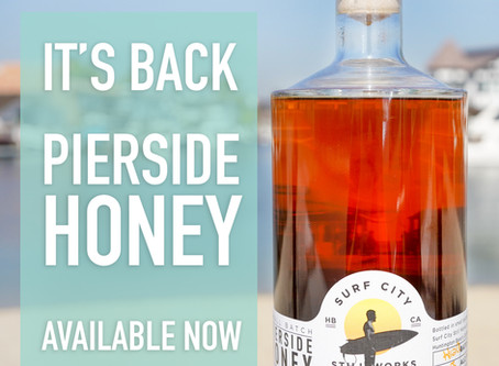 OUR PIERSIDE HONEY WHISKEY IS BACK