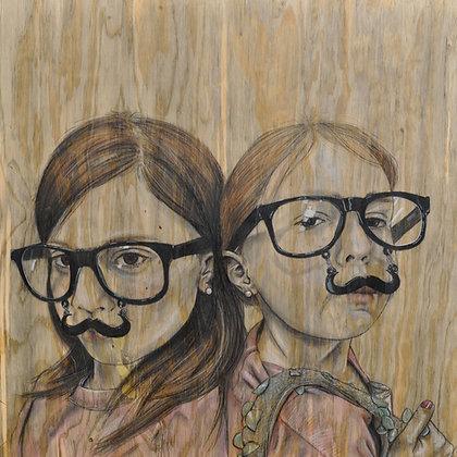 """""""Moustachioed"""" Print"""