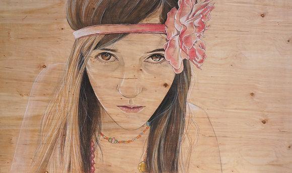 """""""Flower Girl"""" Print"""