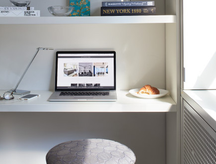 Desk space revealed  photo by Dylan Chandler coutesy of M Monroe Design