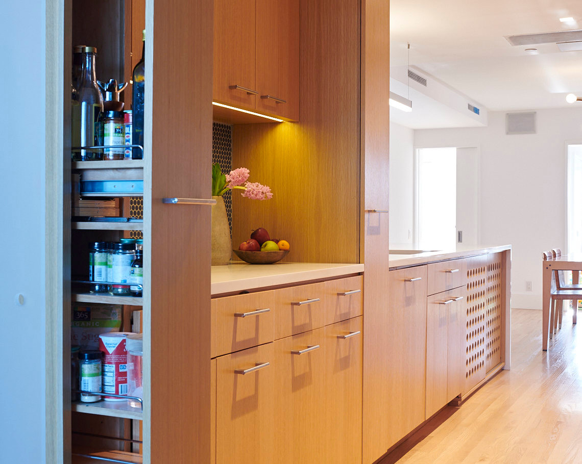 integrated full-height pantry pull-out