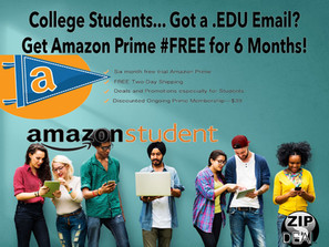 Amazon Prime for Students... 6 Months #Free !