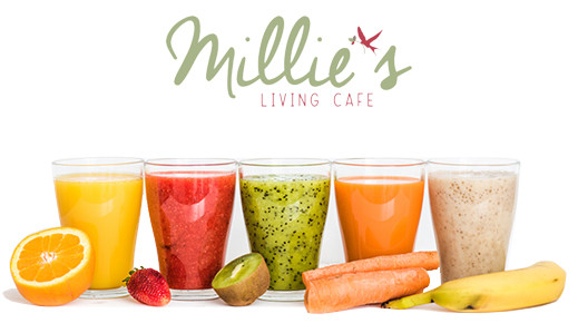 Millie's Living Cafe, Juice Bar in Virginia, fresh juices and smoothies