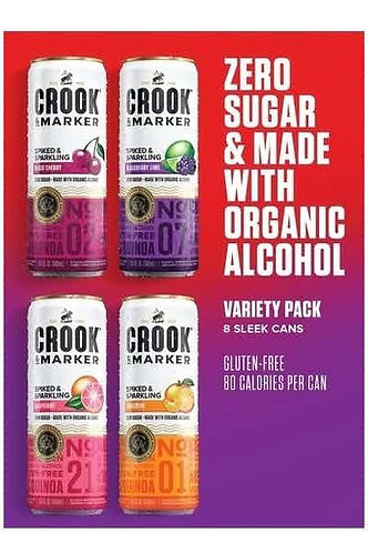 Crook & Marker Spiked Sparkling Seltzer Red Variety Pack