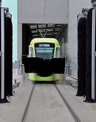 автоматична портална машина за измиване на влакове